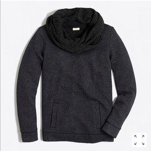 J. Crew Funnel Neck Charcoal Black Sweatshirt F364